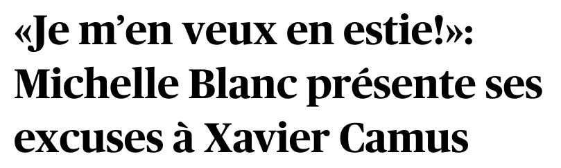 Michelle Blanc vs Xavier Camus