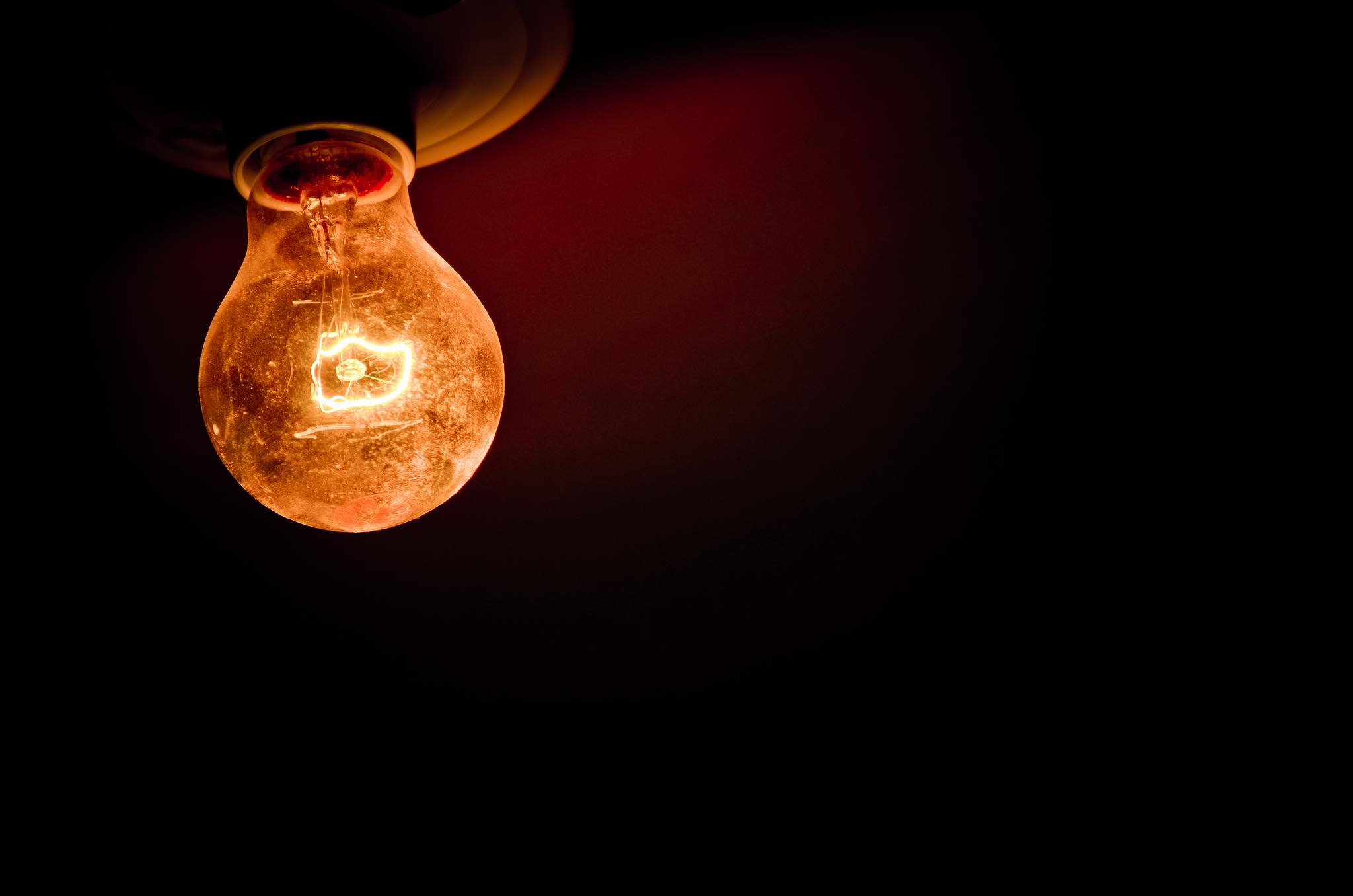 Ampoule en background pour le site de Martin Comeau